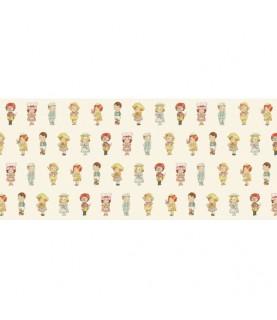 Tela Muñecas oficios 15 x 1.10 cm