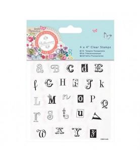 Sellos transparente abecedario