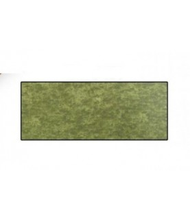 Tela de popelin verde botella marmoleada