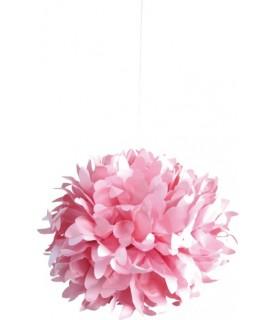 Bola de papel de seda rosa