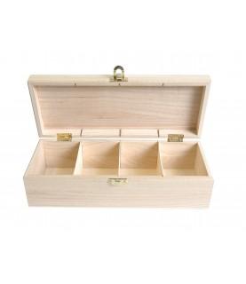 Caja para te de madera rectangular