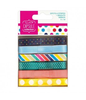 Pack de 6 cintas mod Spots&Stripes Brights