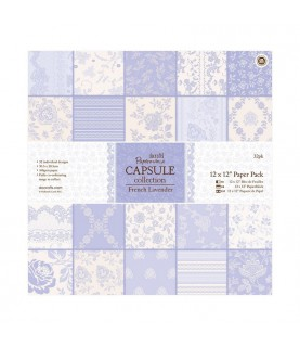 32 hojas scrap Capsule-french lavender 12x12