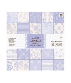 32 hojas scrap Capsule-french lavender 8x8