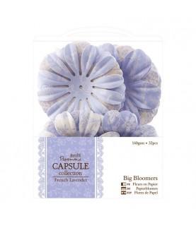 Pack 32 flores de papel French Lavender