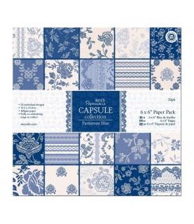 Pack 32 hojas scrap Capsule-Parisienne Blue 6x6
