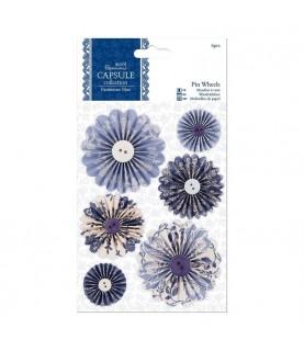 Pack 6 molinillos de papel Parisienne Blue