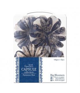 Pack 32 flores de papel Parisienne Blue
