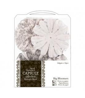 Pack 32 flores de papel Midnigt blush
