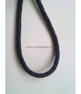 Cordón de cuero trenzado 3mm
