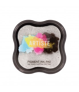 Tinta Ink Pad- Plata metalizado