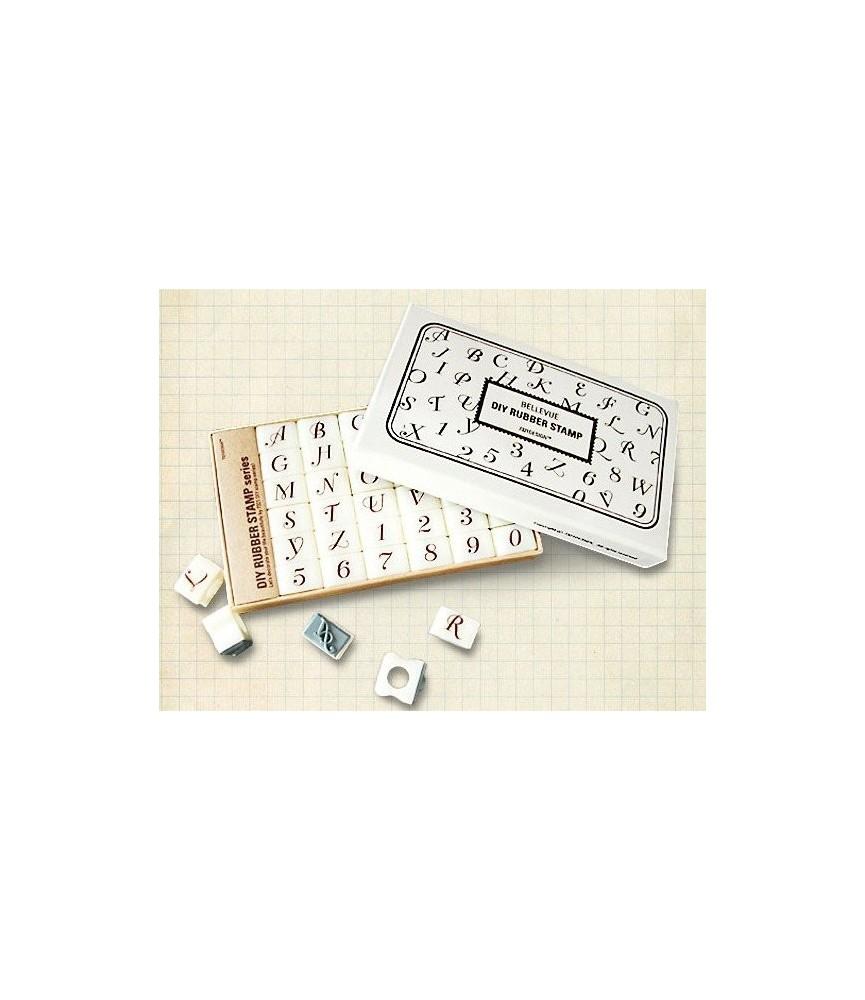 caja de sellos con el abecedario