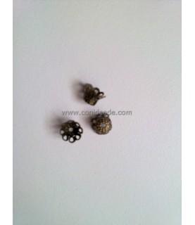 Pack de 10 terminales de filigrana en bronce 6x5mm
