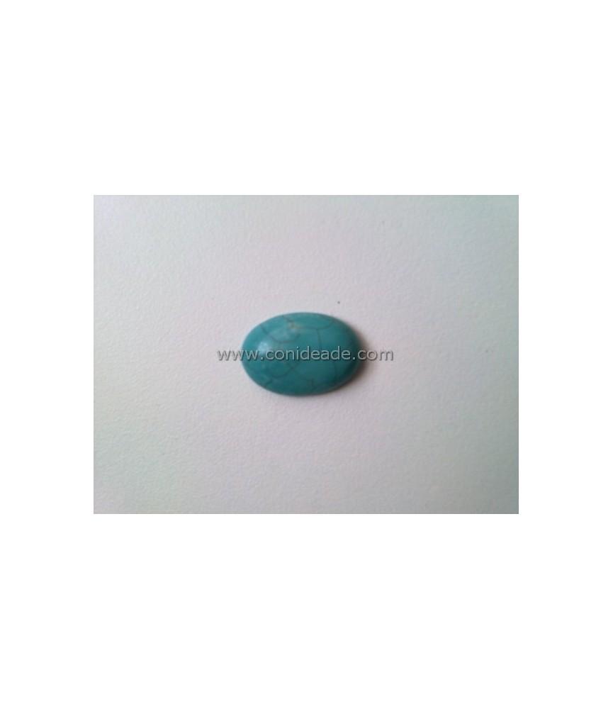 Cabuchon turquesa de piedra 18x13mm