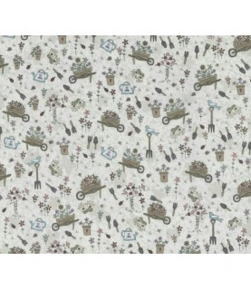 Tela algodón pocketful of daisies gris (01)