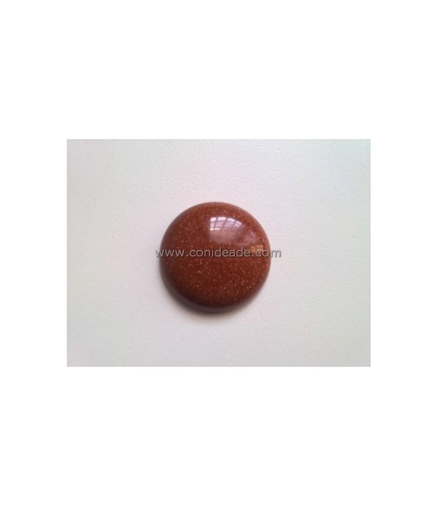 Cabuchon marrón de piedra 25mm