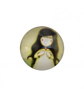Cabuchon muñeca 25 mm mod 33