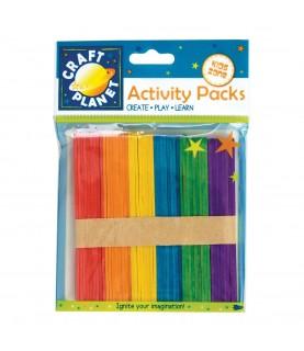 Pack de 50 Palos de madera 6 colores