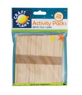 Pack de 50 Palos de madera color natural