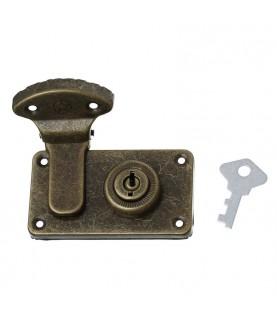 Cerraura con llave color bronce