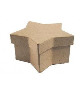 Caja papel maché estrella 15x9x7cm