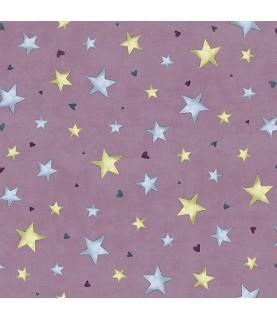 Tela gorjuss rainbow dreams estrellas rosa
