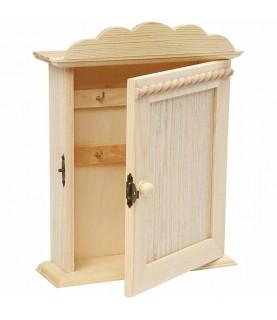 caja de madera para colgar llaves