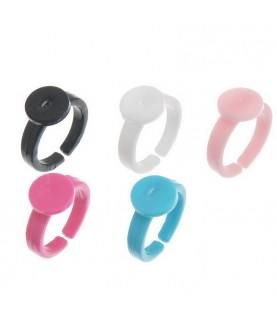 Anillo de plastico para niñas 5 colores