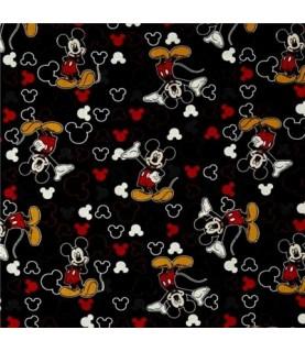 Tela Mickey Mouse negro