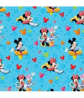 Tela Mickey Mouse and friends azul