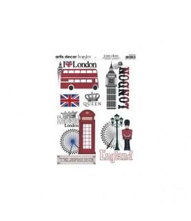 Transferencia London A4 para decoraciones y manualidades