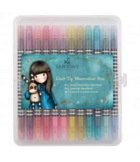Caja de 12 rotuladores Watercolour Gorjuss colores vivos