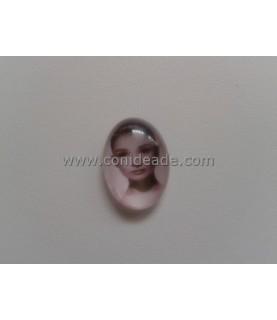 Cabuchon cristal Audrey Hepburn 18x13mm