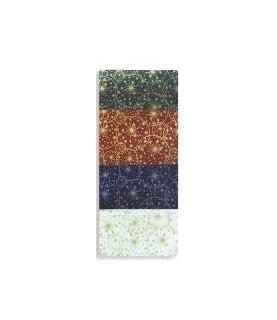 Tela popelin Estampado estrellas de navidad 50x45cm