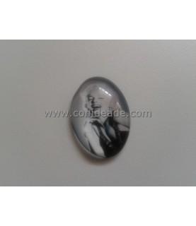 Cabuchon de cristal Marilyn Monroe 18x25mm
