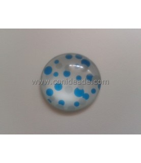 Cabuchon cristal lunares azules 30 mm