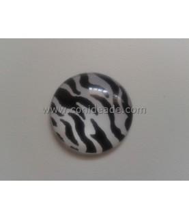 Cabuchon cristal zebra 25mm