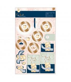 Pack A4 4 laminas de decoupage opulent Hello