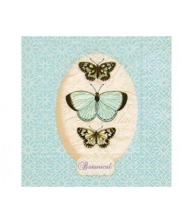 Servilleta mariposas azules 33x33cm