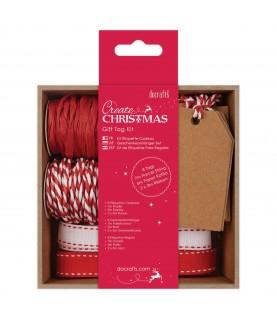 Pack de etiquetas para regalo – Rojo