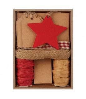 Pack de etiquetas y fieltro para regalo