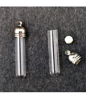Set colgante tubo de cristal 29 mmx5 mm