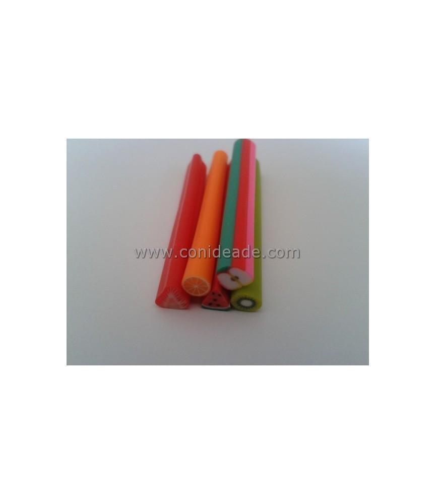 """Pack de 5 Barras de minifiguritas de fimo """"frutas"""""""