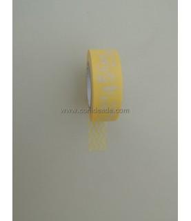 1 rollo washi tapes estampado amarillo números