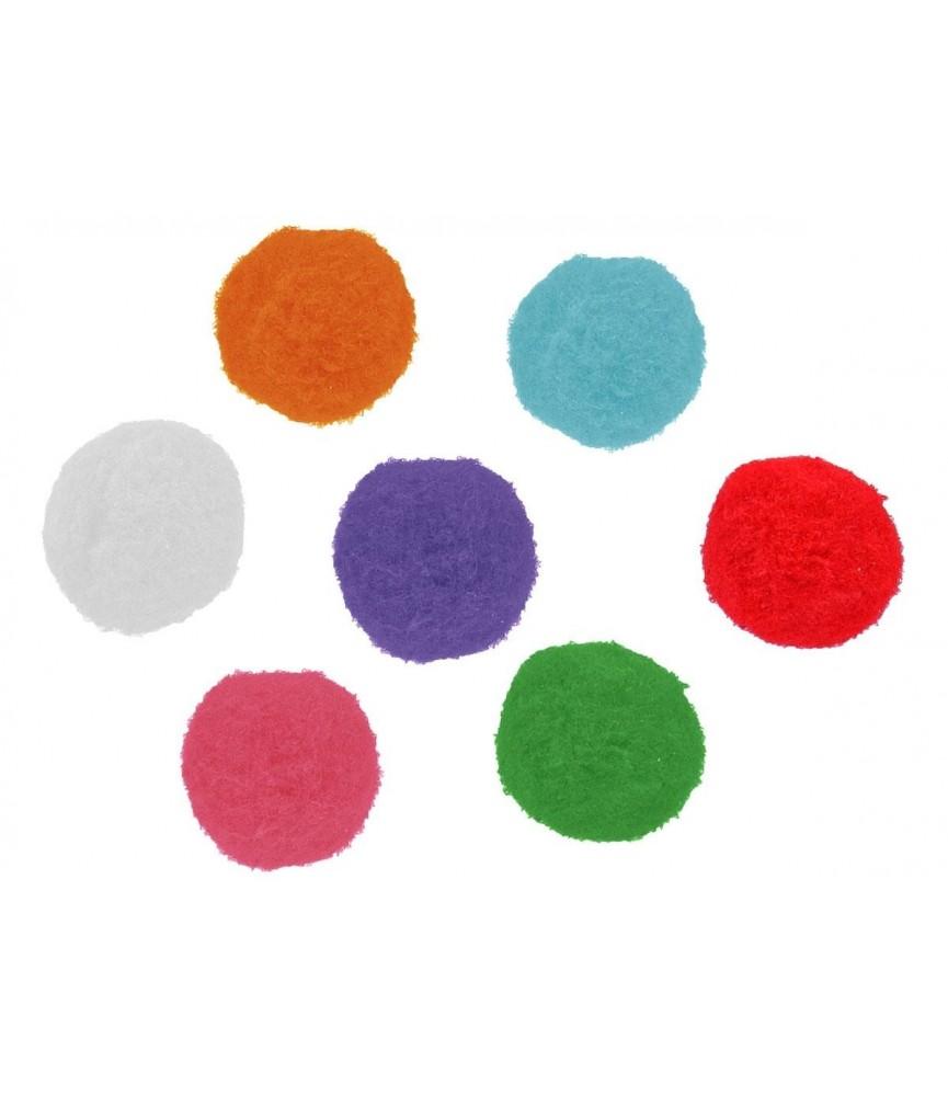 Bolsa de 50 pompones colores mix 5 cm