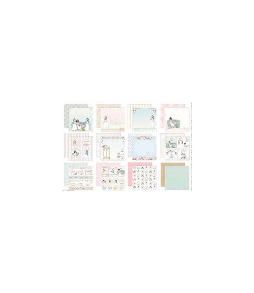 Pack 12 hojas colección comunión niña 2019