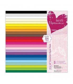Comprar Pack 48 hojas de 30x30 de 24 colores de Conideade