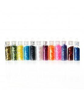 Comprar Pack 12 mini tarros de purpurina de colores de Conideade