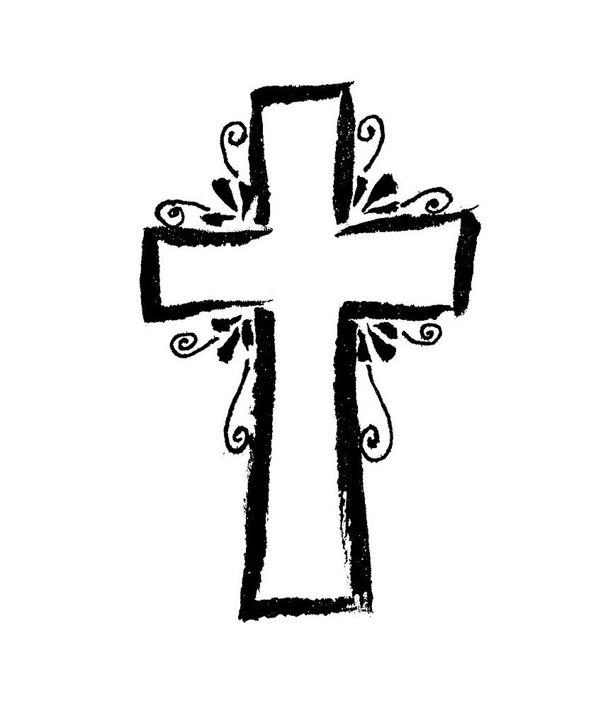 Sello de madera cruz primera comunión