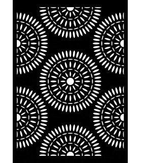 Plantilla stencil A4 Mandalas